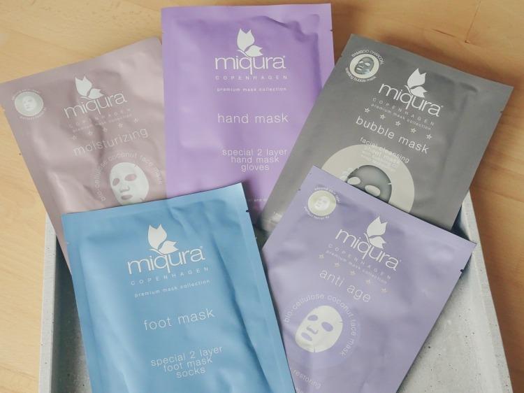 Skønhed, hudpleje og velvære. Forskellige masker fra Miqura. (bubble mask, hand mask, foot mask, anti age, moisturizing)
