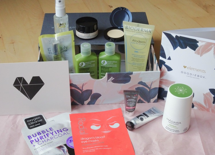 Goodiebox Limited Edition: Elements – Clean – Rodial – Aurelia – Bioderma – Verso – Skønhed – Beauty - Hudpleje