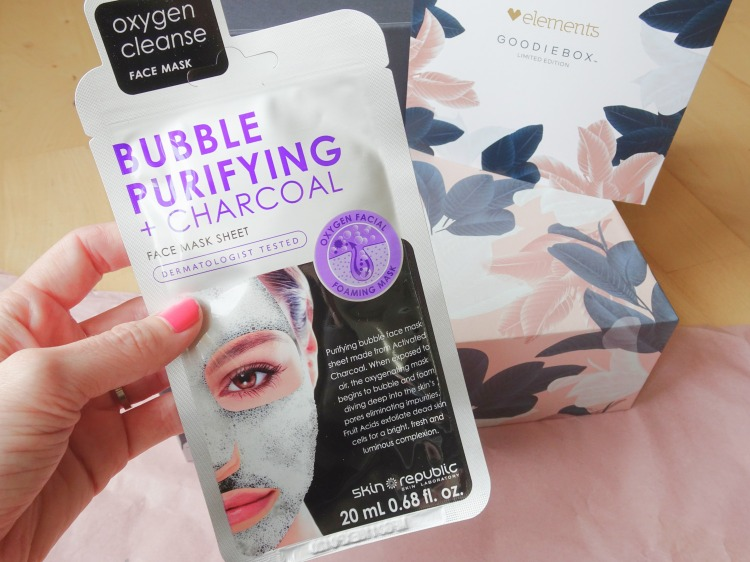 Goodiebox Limited Edition: Elements - Skin Republic – Bubble Purifying + Charcoal Face Mask