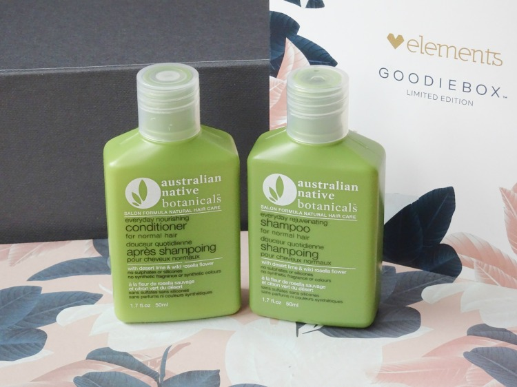 Goodiebox Limited Edition: Elements - Australian Native Botanicals – Shampoo & Conditioner – normal hair