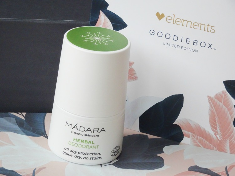 Goodiebox Limited Edition: Elements - Mádara – Herbal Deodorant