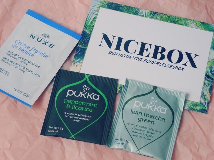 Nicehair.dk – Nicebox – oktober. Skønhed. Beauty. Hudpleje. Prøver og te.