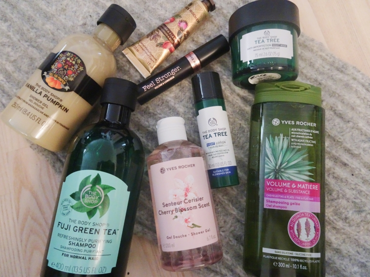 Nye produkter – The Body Shop – Yves Rocher
